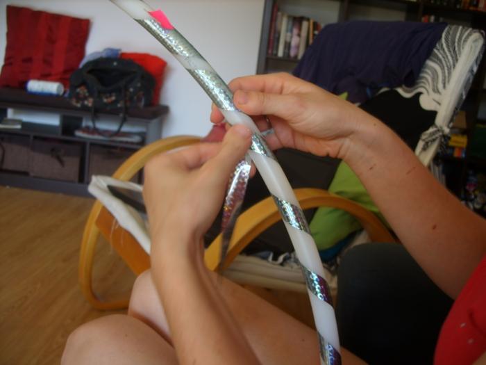 tasma blyszczaca do hula hoop