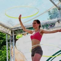 Strefa aktywności z hula hoop